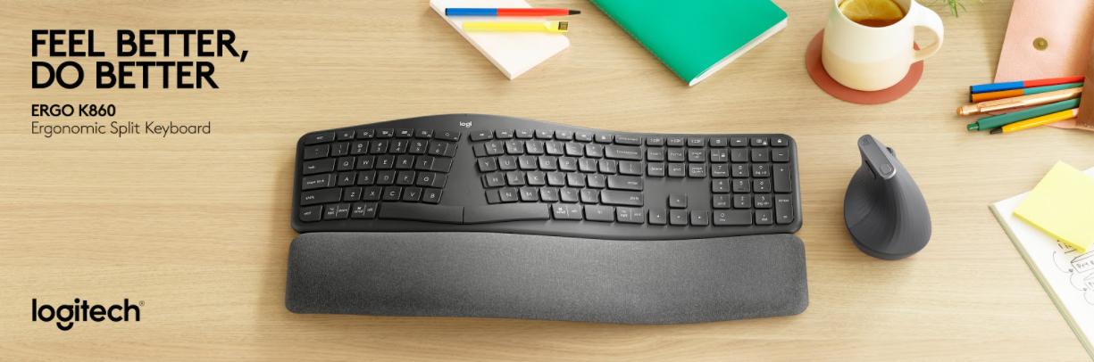 Logitech launches ergonomic split keyboard with Ergo K860